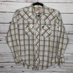 Wrangler pearl snap shirt